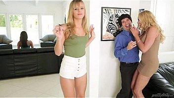 Типы снимают поебушку и развлекаются анально-вагинальным сексом с блондинкой